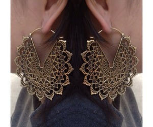 earrings, fashion, and grunge image
