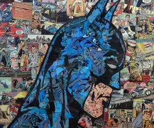 batman, Collage, and comic image
