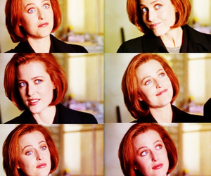 dana scully, gillian anderson, and red hair image