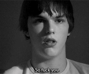 black and white, nicholas hoult, and skins image
