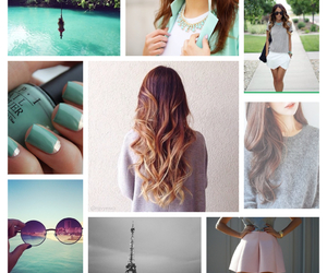 beaches, nails, and eiffel tower image