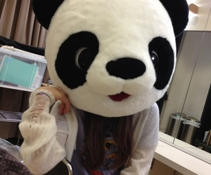 girl, panda, and cute image