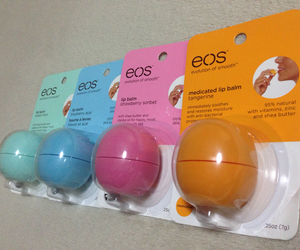 eos, lip balm, and organic image