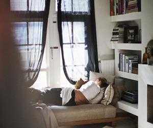 girl, books, and room image