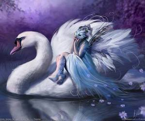 Swan, fantasy, and fairy image