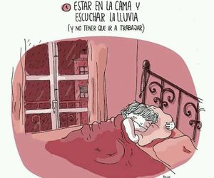 bed and lluvia image