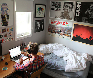 boy, room, and bedroom image