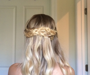 braids, curly, and hair image
