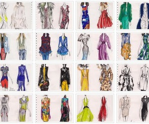 clothing, fashion, and sketches image