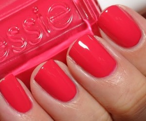 nails, essie, and watermelon image