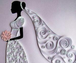 wedding, bride, and white image