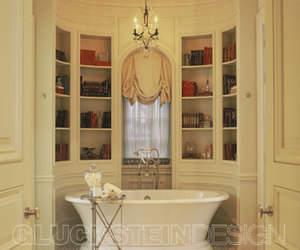 bathroom and library image