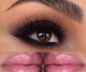 eyebrows, make up, and lips image