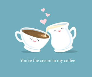coffee, love, and cream image