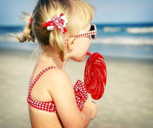 beach, candy, and girl image