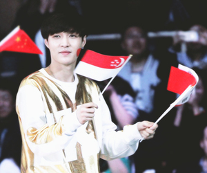 exo, flags, and red image