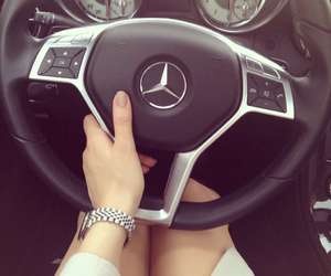 car, legs, and mercedes image