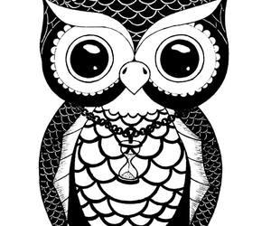 design, owl, and tattoo image