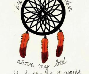 dreamcatcher, feathers, and typography image