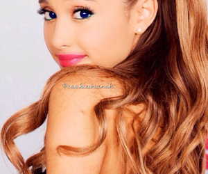 blue eyes, ariana, and grande image
