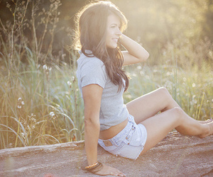 girl, nature, and shorts image