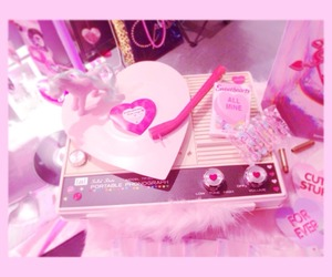 heart, pink, and record image
