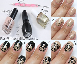 leopard, nails, and tutorial image