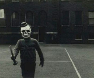 black and white, creepy, and Halloween image
