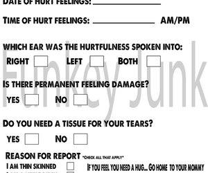 graphic relating to Hurt Feelings Report Printable named Printable Destruction Emotions Article for Older people as a result of FunkeyJunk upon Etsy
