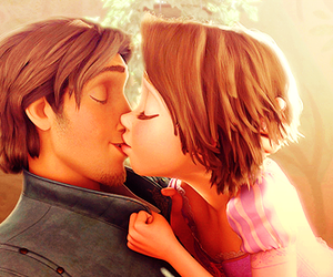 tangled, love, and kiss image