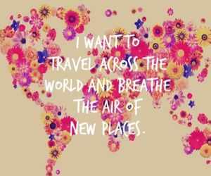 travel, flowers, and quote image