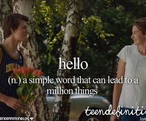 hello, definition, and the fault in our stars image
