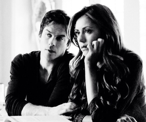 couple, delena, and ian somerhalder image