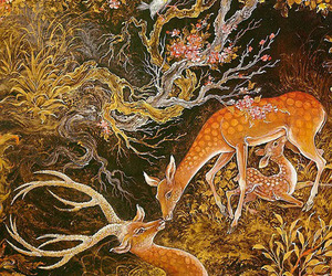 antlers, art, and birds image