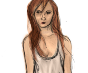 drawing, pretty, and ginger image