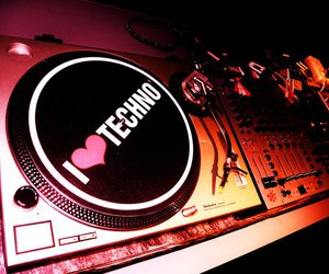 music, techno, and love image