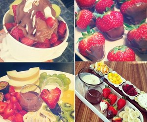 strawberry, chocolate, and fruit image