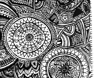 black and white, doodles, and drawing image