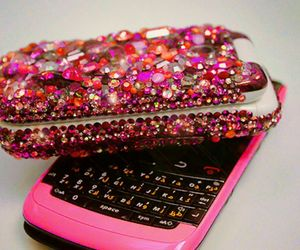 pink, phone, and blackberry image