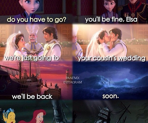 disney, frozen, and little mermaid image