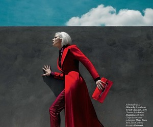 red, fashion, and gray image