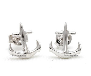 anchor, beach, and earrings image