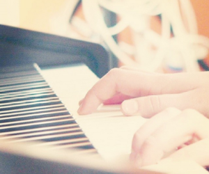 fingers, music, and piano image