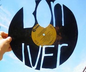 bon iver, record, and music image