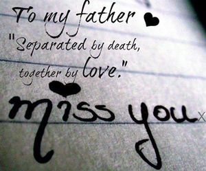 father, separated, and love image