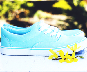 shoes, sneakers, and turquoise image