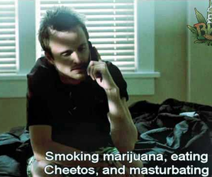 chill, eating, and smoking image