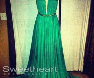 dress, green, and sexy image