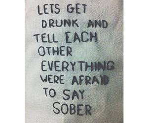 drunk, quote, and sober image