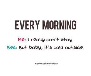bed, morning, and funny image